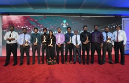 Winners of Journalism Awards pose for photo at Maldives Journalism Awards 2018 / PHOTO: MIHAARU