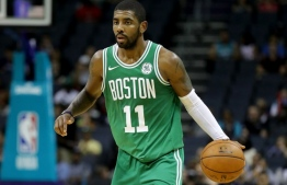 Kyrie Irving (11) of the Boston Celtics