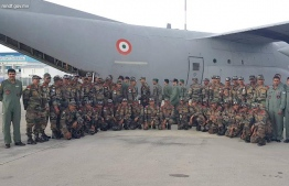 Indian troops arrive in Maldives. PHOTO: MNDF