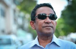 Former President Abdulla Yameen. PHOTO: NISHAN ALI/ MIHAARU