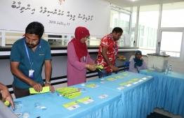 Vote counting at the Maldives Media Council Elections 2018. PHOTO/HOME MINISTRY
