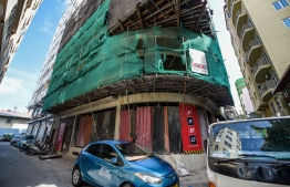 A construction site in Male City. PHOTO: AHMED NISHAATH/MIHAARU