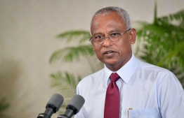 President Ibrahim Mohamed Solih speaks at a press conference held December 19, 2018, at the President's Office. PHOTO: NISHAN ALI/MIHAARU