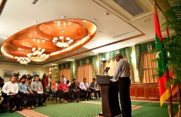 President Ibrahim Mohamed Solih at his first Press Conference. PHOTO: MIHAARU