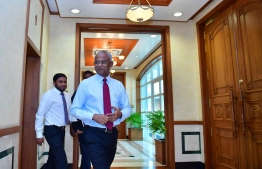President Ibrahim Mohamed Solih and Chief of Staff of the President's Office Ali Zahir. PHOTO: PRESIDENT'S OFFICE
