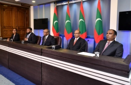 The first press conference of the Presidential Commission which was assembled to review and investigate unsolved deaths and disappearances. PHOTO: NISHAN ALI/MIHAARU