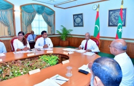 President Ibrahim Mohamed Solih attending a Cabinet meeting. PHOTO: PRESIDENT'S OFFICE