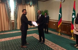 The newly appointed Immigration Controller Mohamed Ahmed Hussain. PHOTO: PRESIDENT'S OFFICE