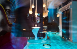A secret 'disco toilet' - one of the most amazing suprises discovered at LUX* South Ari Atoll. PHOTO: LUX*