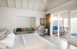 The minimalistic interior of the ever luxurious water villas at LUX* South Ari Atoll. PHOTO: LUX*