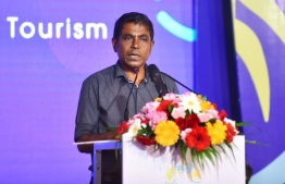 Maldives Marketing and Public Relations Corporations' Managing Director Thoyyib Mohamed. PHOTO: AHMED NISHAATH/ MIHAARU