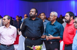 President Solih at the Guest house symposium. PHOTO: AHMED NISHAATH/MIHAARU