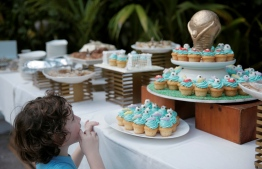 Worldcup themed cupcakes and other snacks at the 'Festive Football Camp'. PHOTO: HAWWA AMANY ABDULLA/THE EDITION