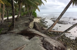 Coastal erosion is a serious issue that plagues Fuvahmulah. PHOTO: ONE FUVAHMULAH / THE EDITION