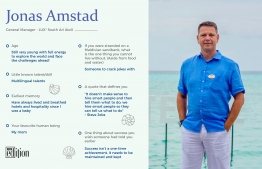 A brief look at Jonas Amstad, General Manager at LUX* South Ari Atoll. IMAGE: AHMED SAFFAH / THE EDITION