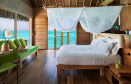 Inside a lagoon water villa at Six Senses Laamu. PHOTO/SIX SENSES LAAMU