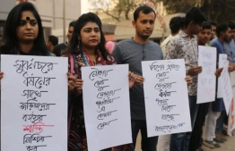 News of the gang rape has sparked protests and anger in Bangladesh. PHOTO: GETTY IMAGES