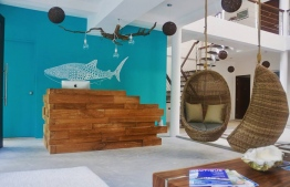 The reception area of Bliss Dhigurah. PHOTO: BLISS DHIGURAH