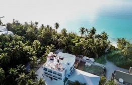 Areal view of Bliss Dhigurah. PHOTO: BLISS DHIGURAH
