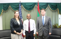 American Ambassador to Maldives, Alaina Teplitz and the Assistant Secretary of Defense of the United States of America, Randall Schriver, on Tuesday called on Minister of Foreign Foreign Affairs Abdulla Shahid