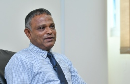 Minister of Higher Education Dr Ibrahim Hassan. PHOTO:  AHMED NISHAATH / MIHAARU