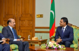 Vice President Faisal Naseem meets Pakistani Ambassador. PHOTO: PRESIDENT'S OFFICE