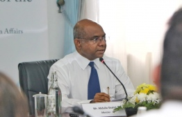 Minister of Foreign Affairs, Abdulla Shahid. PHOTO: HUSSAIN WAHEED/MIHAARU
