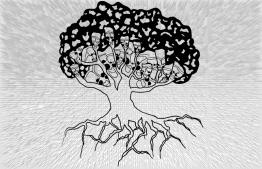 Illustration for 'Mass Hysteria ... or Jinn Possession? - Makunudhoo School'. IMAGE: JAUNA NAFIZ / THE EDITION