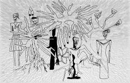 Illustration for the Urban Legends of Maldivian Schools. IMAGE: JAUNA NAFIZ / THE EDITION