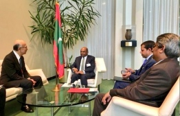 Foreign Minister Shahid in a meeting with several top diplomats of other nations