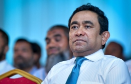 Former President Abdulla Yameen attends the convening meeting of People's National Congress. PHOTO: NISHAN ALI/MIHAARU