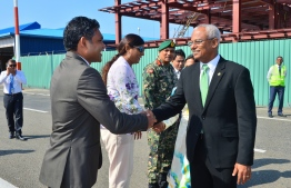 President Ibrahim Mohamed Solih before departing to Sri Lanka's Independence Day. PHOTO: PRESIDENTS OFFICE