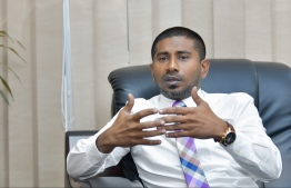 Minister of Youth, Sports and Community Development Ahmed Mahloof. PHOTO: HUSSAIN WAHEED/MIHAARU