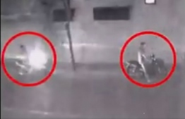 Surveillance footage depicting two suspects believed to be connected to the murder of Dr Afrasheem Ali on October 2, 2012.