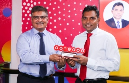 Ooredoo Maldives Chief Executive Officer Najib Khan and Vice-President Faisal Naseem. PHOTO: OOREDOO MALDIVES