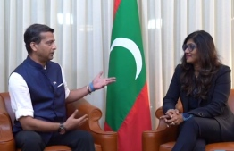 Minister of Defence Mariya Ahmed Didi during the Strategic News International (SNI) interview. PHOTO: SCREENGRAB / SNI