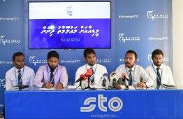 Press conference held by STO. PHOTO: HUSSAIN WAHEED / MIHAARU
