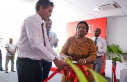 Bank of Maldives Ltd (BML) unveils its new Business Centre in Addu City. PHOTO/BML