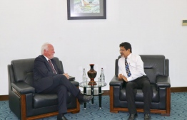 Norwegian Ambassador to Maldives Thorbjørn Gaustadsæther meets Abdul Ghafoor Mohamed, Foreign Secretary. PHOTO: FOREIGN MINISTRY