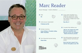 A brief look at Marc Reader, Resort Manager at Finolhu Maldives. IMAGE: AHMED SAFFAH / THE EDITION