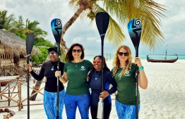 L-R: Dhafeena Hassan Ibrahim, Dr Claire Petros, Shaziya Saeed and Dr Cal Major. PHOTO/STAND UP FOR OUR SEAS