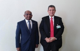 Minister of Foreign Affairs Abdulla Shahid (l) and Malaysian Minister of Foreign Affairs Saifuddin bin Abdullah. PHOTO: MINISTRY OF FOREIGN AFFAIRS