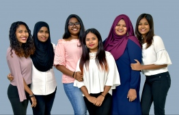 The uber-talent group of sisters, cousins and friends 'Faimini Boduberu' is a musical group that breaks stereotypes every day. From the left is standing Rishdha Shuja, Hishma Zubair, Shykha Sameeu, Lila Ibrahim, Aishath Rifga and Rishma Zubair. PHOTO: THE EDITION / HAWWA AMAANY ABDULLA