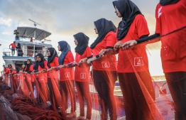BML's female staff taking part in a special fishing trip organized to celebrate International Women's Day. PHOTO: BML