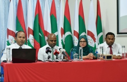 Some members of the Anti Corruption Commission. PHOTO: HUSSAIN WAHEED / MIHAARU