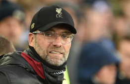 Liverpool's German manager Jurgen Klopp looks on before the English Premier League football match between Everton and Liverpool at Goodison Park in Liverpool, north west England on March 3, 2019. PHOTO: Oli SCARFF / AFP