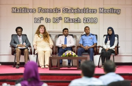 From the Maldives Forensic Stakeholder Meeting. PHOTO: HUSSAIN WAHEED / MIHAARU