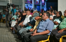 Supporters of Maldivian Democratic Party (MDP) at a campaign rally held by the party in preparation for the 2019 parliamentary election. PHOTO: HUSSAIN WAHEED/ MIHAARU