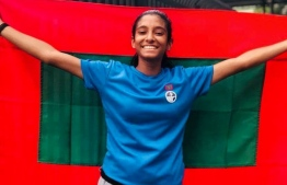 Aishath Himna Hassan who currently holds the national record in the Women's 400m Dash, finishing in 59.18 seconds.