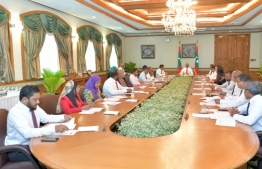 From the cabinet meeting held on March 19. PHOTO: PRESIDENTS OFFICE
